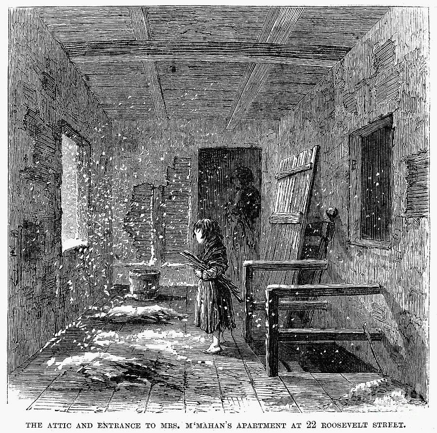 Рабочая квартира в Нью-Йорке 1860-х зимой