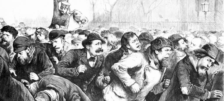Разгон митинга безработных на Томпкинс-сквер