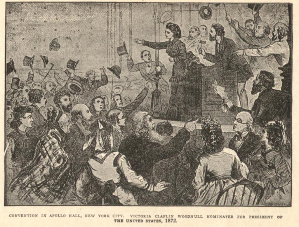 Выдвижение Виктории Вудхалл в президенты США отколовшимися ячейками Первого Интернационала