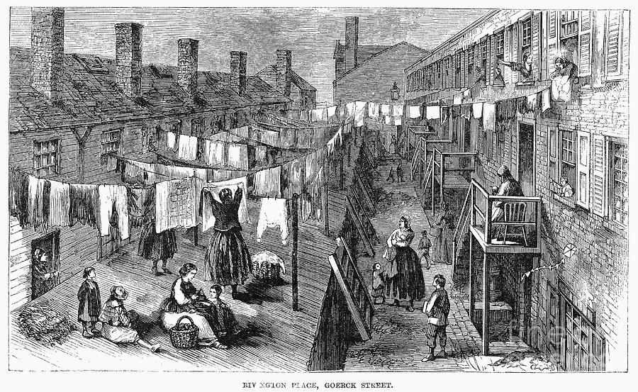 Жилье рабочих Нью-Йорка в 1860-х