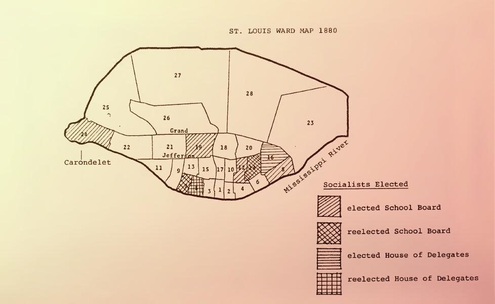 Политическое влияние Соцпартии в Сент-Луисе к 1880-му году