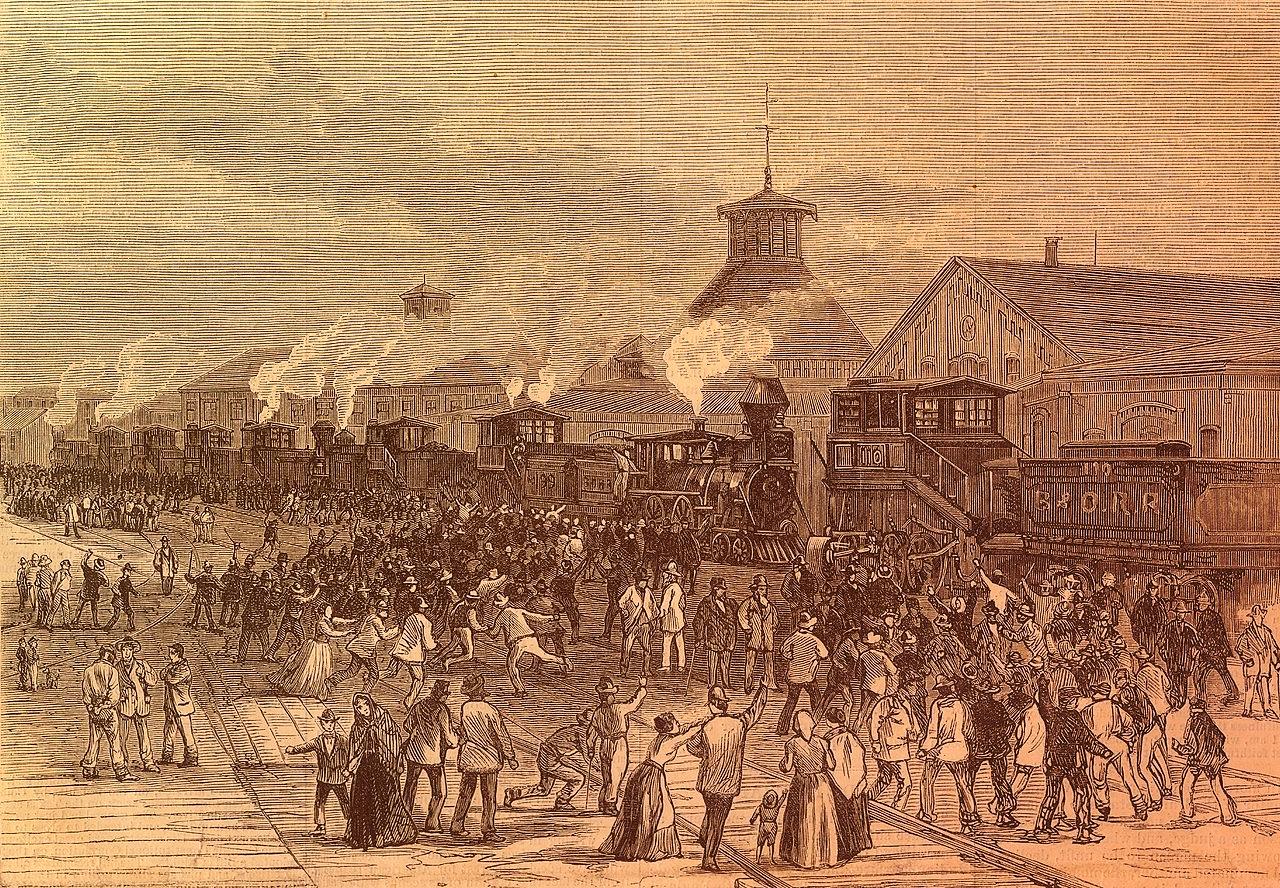 Блокада железной дороги в Мартинсбурге