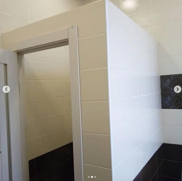 Туалет в здании архива после ремонта